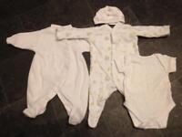 Newborn unisex sleep suits/baby clothes