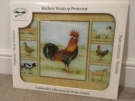 Stow Green Kitchen worktop protector, glass chopping board
