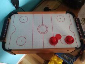 Kids mini air hockey table