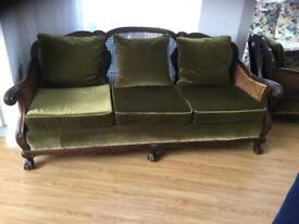 Antique Berger sofa suite