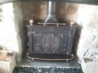 STOVAX MULTI FUEL FIRE. W950 x D600mm x H770mm. CAST IRON. EXCELLENT CONDITION. VERY ORNATE.