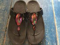 Ladies Black Fit Flops