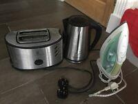 Kettle + toaster + iron