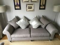 REDUCED for quick sale - 4 seater sofa, armchair and Ottoman footstool