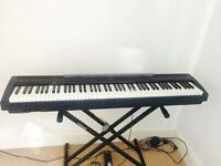 Yamaha P85 Stage Digital Full size Piano 88 weighted keys with stand, sustain pedal and case.