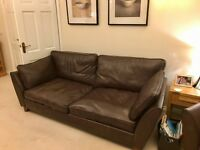 Marks and Spencer Large Barletta Sofa in Dark Brown Bronco Leather