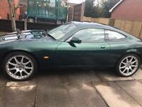 Xk8 jaguar premium for sale , 2 owners , 12 month mot .Pearlescent racing green