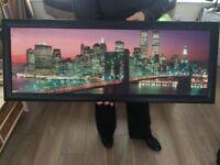 New York skyline framed poster