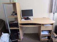 Executive Computer Desk/Table with lots of storage for Sale - £35.00
