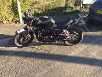 125cc motorbike 125 full kit bike/helmet and leathers ready to ride away