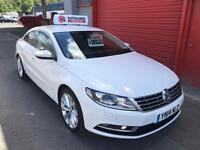 2014 PASSAT CC GT 2.0 TDI WHITE £30 TAX