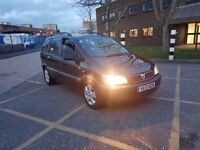 FOR SALE 2002 VAUXHALL ZAFIRA BLACK MPV 7 SEATER ONLY £499