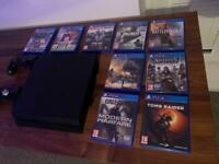 PS4 500GB console and 9 games