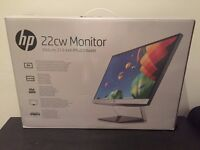 """Brand New: HP 22""""cw Monitor with HDMI support"""