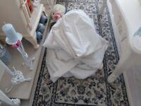 White 2 seater ikea sofa covers as new