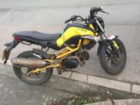 Kymco k-pipe 125cc, 13 plate, 12 months mot, low miles 4744