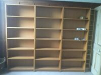 Ikea Billy bookcases, beech veneer. Six in total, but can be bought separately.