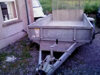 10 x 5ft9 Ivor Williams Plant Trailer lights/brakes working, in V.good condition