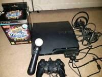 PS3 slim 120gb plus accessories