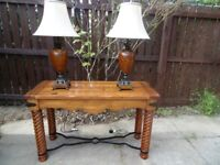 stunning coffee table with matching console table