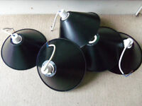 Black metal lampshades X5 Diameter 26cm