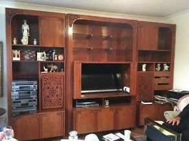 Solid Teak Wall Unit