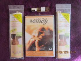 2 PACKS GENUINE BIOSUN HOPI EAR CANDLES/INDIAN HEAD MASSAGE DVD/OIL ROLL ON