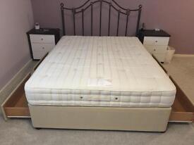 King Size Bed, Mattress & Headboard