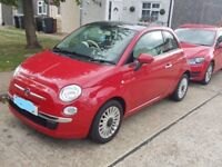 2014 FIAT 500 LOUNGE WITH VERY LOW 28K MILLAGE HPI CLEAR PANORAMIC SUNROOF