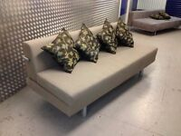 AS NEW MUJI (T2) 3 Seater Sofa Bed. Double Sofabed. Eco Cotton, Very Modern & Chic + I CAN DELIVER
