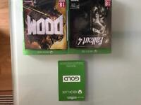 X box one 2 off games and 3 months live brand new.
