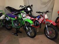 Kids dirt bikes. Like new. Barely used!