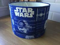 Star Wars lampshade custom made with Star Wars fabric