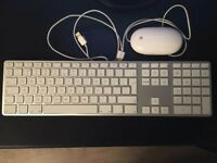 Genuine Apple Wired Aluminium USB Keyboard A1243 & Mouse USB Wired A1152