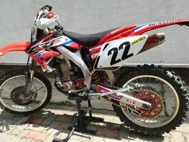 Honda CRF450R Road legal motocross bike