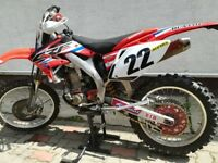 Honda CRF450R Road legal motocross bike