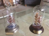 Pair of Old Warships in Glass