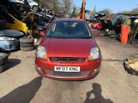 BREAKING Ford Fiesta Zetec Climate 1.3 Red door bumper wing window glass front rear offside nearside