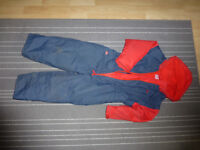 Togz Fleece lined All-in-one Auit - Red/Blue size 5yrs - 120cm