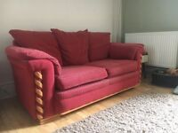 Sofabed - Red Fabric, Priced to Go ASAP