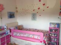 Girls pink bed guard