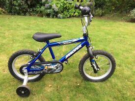 "Kids 14"" bike with stabilisers"