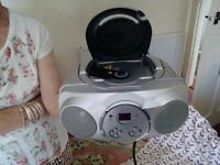 radio and CD player