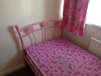 Pink heart metal Bed frame