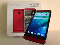 HTC One M7 Red Unlocked Boxed