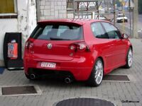 VW GOLF MK5 Rear carbon fibre diffusor quad exhaust R32 ABT
