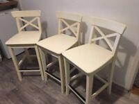 Ikea Stools x3