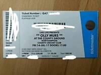 4x Olly Murs Summer Tour tickets (Platinum View)