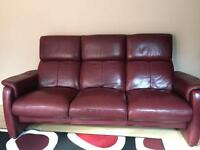 LEATHER SOFAS FOR SALE 3+2+FOOTSTOOL