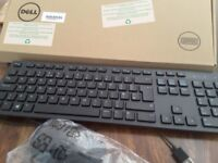 Unused Dell wired keyboard and mouse
